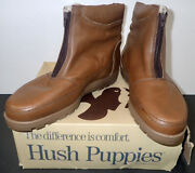 Vintage Hush Puppies Mckinley Leather Boots W/ Sherpa Lining Sz 13 Ew Nos