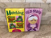 Three Childrens Card Games Bible Trivia, Matching And Old Maid