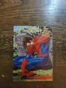 1995 Flair Marvel Annual Lifetheft Trading Card 50 Unmasked Spiderman