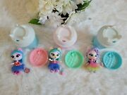 Lot Of 3 Kitten Catfe Purrista Girls Scented Kitty Cat Dolls W/accessories Pink