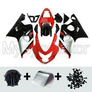 Motorcycle Abs Fairings Fit For Suzuki Gsxr600 750 2004 2005 Red Silver Black