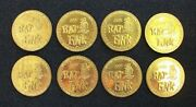 Ed Roth Rat Fink 1995 Hot Rod Monsters Metal Brass Slammers Coins Pogs Set Of 8