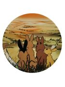 Royal Orleans Watership Down Plate Movie Rabbits Gaze Over The Whole World Rare