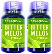 2 Bottles 1200mg Bitter Melon Fruit Extract 100/200 Capsules Non Gmo