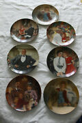 Edward M. Knowles Little Orphan Annie Plates Lot Of 7 With Boxes Annie 1980s