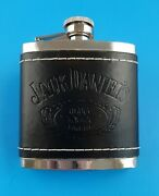 Jack Daniels - Old Number 7 - 5 Ounce Stainless Steel / Leather Hip Flask - 2009