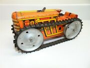 Vintage Marx Toys Wind Up Crawler Tractor- Motor Not Working, Missing Driver