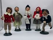 Byers Choice Carolers Lot Of 5 Vintage Christmas Decor 1980s 1990s