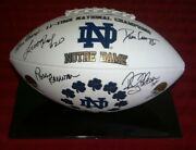 Notre Dame 11-time Champions Souvenir Football Signed By Ara Parseghian Players