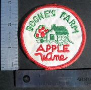 Boones Farm Embroidered Sew On Only Patch Apple Wine Uniform 2 7/8 Round
