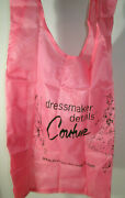 Barbie Dressmaker Details Couture Adult Size Bib For Food Pink Synethic Fabric