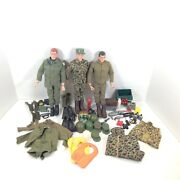 Vintage 1964 Early Tm And Pat Pending Gi Joe Action Figures And Accessories Lot