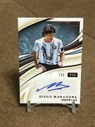 Diego Maradona Immaculate Collection Soccer Card Argentina Nm-ex Ink /15