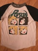 Vintage Poison Look What The Cat Dragged In Tour Band T Shirt 1986