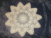 Crocheted Ivory 24 Pineapple Design Doily Table Topper Doilies New Made In Usa