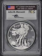 2013 W 2-coin Set 1 Silver American Eagle Pcgs Sp70 And Pr70 Mercanti Labels
