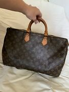 Vintage Authentic Louis Vuitton Speedy 40 Mb8911 With Working Lock And Key
