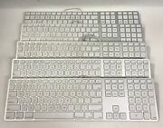 Lot Of 5 Apple A1243 Wired Aluminum Usb Keyboard