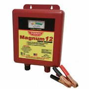 Parmak Magnum 12 Mag12uo Low Impedance Electric Fence Charger, Battery Powered.