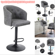 Swivel Bar Stool Adjustable Height Bar Stool Kitchen Pu Leather Dining Chairs
