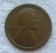 1914-d Lincoln Wheat Cent Rare Key Date Denver Mint Nice Chocolate Brown Coin