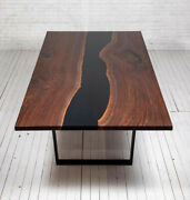 Live Edge Wooden Table Epoxy Table Epoxy Resin River Table Natural Wood