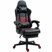 Adjustable High Back Gaming Chair Racing Office Recliner W/ Footrest Pillow