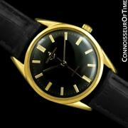 1960and039s Ulysse Nardin Vintage Mens 18k Gold Plated Watch - Mint With Warranty