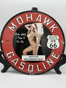 1968andnbsp Vintage Style And039and039mohawk Gasolineand039and039 Rt. 66 Porcelain Pump Plate 12 Inch Usa