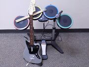 Xbox One Rock Band Rivals Complete In Box Grey Fender Jaguar Drums 1 Mic No Game