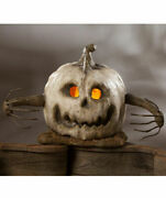 Bethany Lowe Halloween Into The Woods Large White Pumpkin Free Ship Retro Style