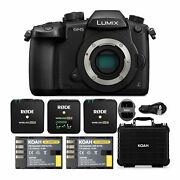Panasonic Lumix Gh5 4k Mirrorless Camera Body Only With Rode Microphone Bundle