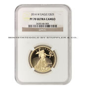 2014-w 25 Gold Eagle Proof Ngc Pf70ucam 22-karat West Point Coin Perfect Grade