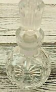 Waterford Crystal Glass Scent Bottle Perfume