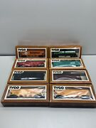 Vintage Tyco Ho Scale Electric Train Cars Lot Of 8 Tanker Hopper Stock Trains