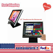 15 Touch Screen Va Lcd Display Monitor, Touch Screen Cash Register W/ Pos Stand