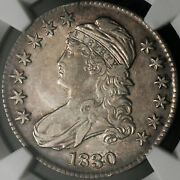 1830 Capped Bust Half Dollar - O-119 Large Med And039oand039 - Ngc Xf40 Extra Fine