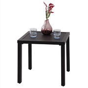 New Outdoor Indoor Small Metal Square Side/end Table Patio Coffee Bistro Table