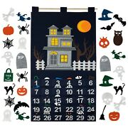 Countdown To Halloween Advent Calendar Holiday Decor Hanging Decoration New