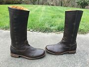 Fiorentini + Baker Ladies Brown Leather Italy Riding Boots Size 41 Euro/11 Usa