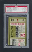 Psa 1935 Chicago Cubs 1st Ws Win @ Wrigley Field World Series Game 5 Ticket