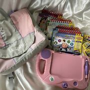 See Pics Leapfrog My First Leappad Book Cartridge Reader Lot Pink