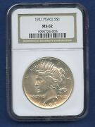 1921 P Peace High Relief Ngc Ms62 Silver Dollar 1 Rare 1921 P Peace Ngc Ms-62