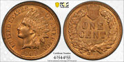 1908 S 1c Indian Head Cent Pcgs Ms 65 Rb Uncirculated Cac Approved Red