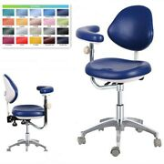 Dental Medical Mobile Chair Doctor Chair Adjustable Dentist Chair Navy Blue Us