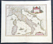 1640 Joan Blaeu Large Antique Map Of Italy