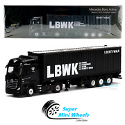 Mini Gt 164 Mercedes-benz Actros With 40and039 Ft Container Andldquolbwkandrdquo Black 215