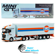 Mini Gt 164 Mercedes-benz Actros With 40and039 Ft Container - Gulf - 213