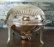 Antique Atkin Bros Silverplate Breakfast Food Warmer Serving Dish Covered 4879