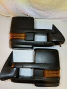 Chevrolet Gmc Truck Trailer Tow Black Manual Fold Driver And Pass Side Mirror